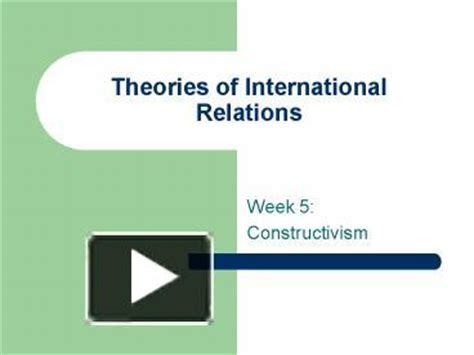 International Relations Theory Essay International